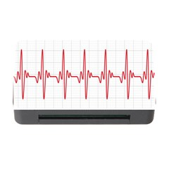 Cardiogram Vary Heart Rate Perform Line Red Plaid Wave Waves Chevron Memory Card Reader With Cf by Mariart