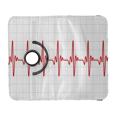 Cardiogram Vary Heart Rate Perform Line Red Plaid Wave Waves Chevron Galaxy S3 (flip/folio) by Mariart