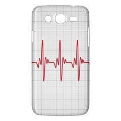 Cardiogram Vary Heart Rate Perform Line Red Plaid Wave Waves Chevron Samsung Galaxy Mega 5 8 I9152 Hardshell Case  by Mariart