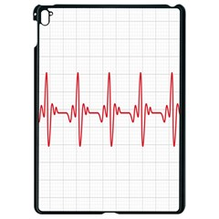 Cardiogram Vary Heart Rate Perform Line Red Plaid Wave Waves Chevron Apple Ipad Pro 9 7   Black Seamless Case by Mariart