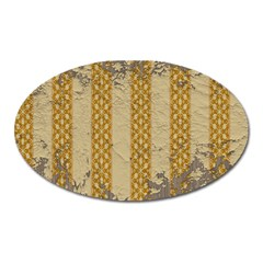 Wall Paper Old Line Vertical Oval Magnet by Mariart