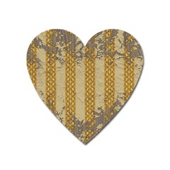 Wall Paper Old Line Vertical Heart Magnet by Mariart