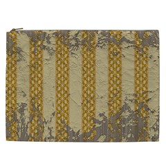 Wall Paper Old Line Vertical Cosmetic Bag (xxl)  by Mariart