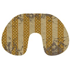 Wall Paper Old Line Vertical Travel Neck Pillows by Mariart