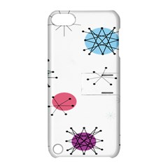 Atomic Starbursts Circle Line Polka Apple Ipod Touch 5 Hardshell Case With Stand by Mariart