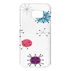Atomic Starbursts Circle Line Polka Samsung Galaxy S7 Edge Hardshell Case by Mariart