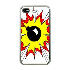 Book Explosion Boom Dinamite Apple Iphone 4 Case (clear) by Mariart
