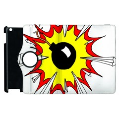 Book Explosion Boom Dinamite Apple Ipad 2 Flip 360 Case by Mariart
