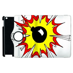Book Explosion Boom Dinamite Apple Ipad 3/4 Flip 360 Case by Mariart