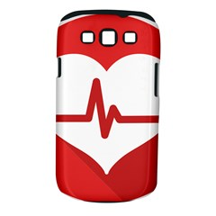 Cardiologist Hypertension Rheumatology Specialists Heart Rate Red Love Samsung Galaxy S Iii Classic Hardshell Case (pc+silicone) by Mariart