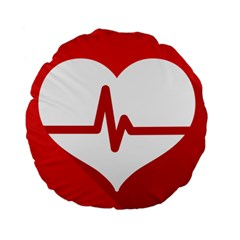 Cardiologist Hypertension Rheumatology Specialists Heart Rate Red Love Standard 15  Premium Round Cushions by Mariart