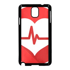 Cardiologist Hypertension Rheumatology Specialists Heart Rate Red Love Samsung Galaxy Note 3 Neo Hardshell Case (black) by Mariart