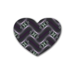 Closeup Purple Line Rubber Coaster (heart)  by Mariart