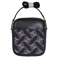 Closeup Purple Line Girls Sling Bags by Mariart