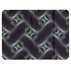 Closeup Purple Line Samsung Galaxy Tab 7  P1000 Flip Case by Mariart