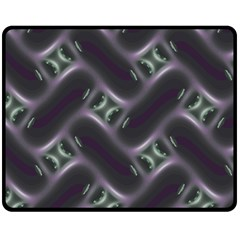 Closeup Purple Line Double Sided Fleece Blanket (medium)  by Mariart