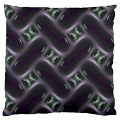 Closeup Purple Line Large Flano Cushion Case (one Side) by Mariart