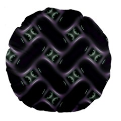 Closeup Purple Line Large 18  Premium Flano Round Cushions by Mariart