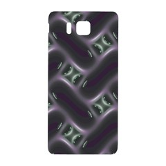 Closeup Purple Line Samsung Galaxy Alpha Hardshell Back Case by Mariart