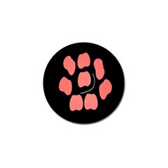 Craft Pink Black Polka Spot Golf Ball Marker by Mariart