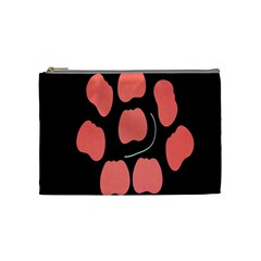Craft Pink Black Polka Spot Cosmetic Bag (medium)  by Mariart