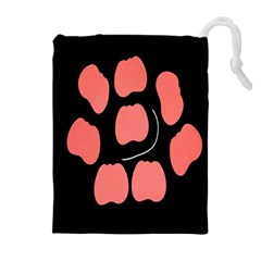 Craft Pink Black Polka Spot Drawstring Pouches (extra Large) by Mariart