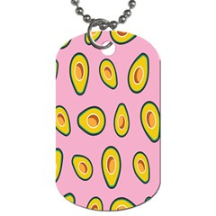 Fruit Avocado Green Pink Yellow Dog Tag (two Sides) by Mariart