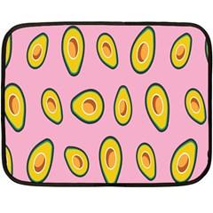 Fruit Avocado Green Pink Yellow Fleece Blanket (mini) by Mariart