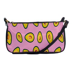 Fruit Avocado Green Pink Yellow Shoulder Clutch Bags by Mariart