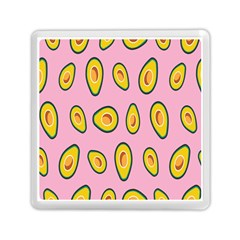 Fruit Avocado Green Pink Yellow Memory Card Reader (square)  by Mariart