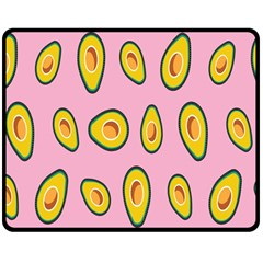 Fruit Avocado Green Pink Yellow Double Sided Fleece Blanket (medium)  by Mariart