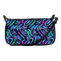 Circle Purple Green Wave Chevron Waves Shoulder Clutch Bags by Mariart