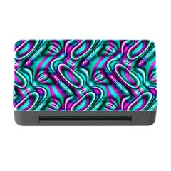 Circle Purple Green Wave Chevron Waves Memory Card Reader With Cf by Mariart