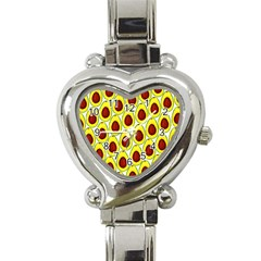 Avocados Seeds Yellow Brown Greeen Heart Italian Charm Watch by Mariart