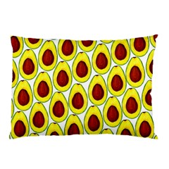 Avocados Seeds Yellow Brown Greeen Pillow Case by Mariart