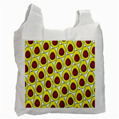 Avocados Seeds Yellow Brown Greeen Recycle Bag (one Side) by Mariart