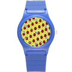 Avocados Seeds Yellow Brown Greeen Round Plastic Sport Watch (s) by Mariart