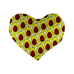 Avocados Seeds Yellow Brown Greeen Standard 16  Premium Heart Shape Cushions by Mariart