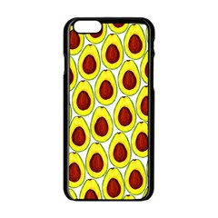 Avocados Seeds Yellow Brown Greeen Apple Iphone 6/6s Black Enamel Case by Mariart