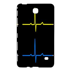 Heart Monitor Screens Pulse Trace Motion Black Blue Yellow Waves Samsung Galaxy Tab 4 (8 ) Hardshell Case  by Mariart