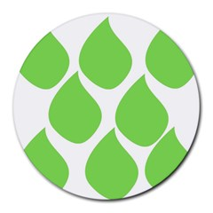 Green Water Rain Round Mousepads by Mariart