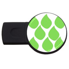 Green Water Rain USB Flash Drive Round (4 GB)