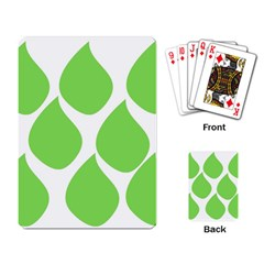 Green Water Rain Playing Card by Mariart