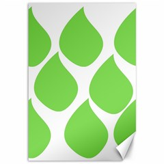 Green Water Rain Canvas 12  X 18   by Mariart