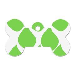 Green Water Rain Dog Tag Bone (Two Sides)