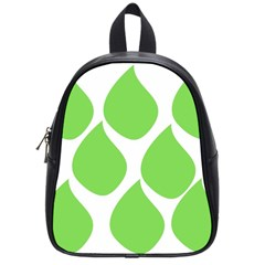 Green Water Rain School Bags (small)  by Mariart