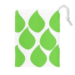 Green Water Rain Drawstring Pouches (extra Large) by Mariart