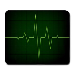 Heart Rate Green Line Light Healty Large Mousepads by Mariart