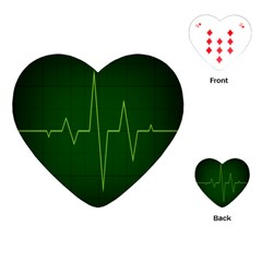 Heart Rate Green Line Light Healty Playing Cards (heart)  by Mariart