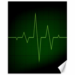 Heart Rate Green Line Light Healty Canvas 16  X 20   by Mariart